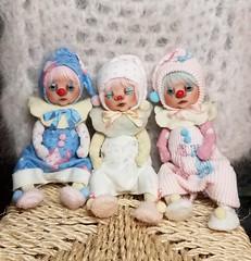 ~Clown Sisters! (ElfinHugs) Tags: ooak handmade miniature art doll by shell clown clowndoll
