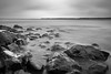 The Slow March (Petri Hollander) Tags: sea shore rock rocks long exposure cloudy waves finland kirkkonummi porkkalanniemi black white blackandwhite