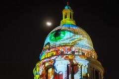 Light To Night Festival Singapore [Explore] (BP Chua) Tags: moon night singapore asia sgartweek lighttonightsg art projection colours canon 1dx