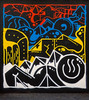 The Only Way Is Up (Steve Taylor (Photography)) Tags: theonlywayisup arrow art graffiti mural streetart black blue white yellow red uk gb england greatbritain unitedkingdom london shape perspective