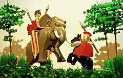 Alexander and Porus - 326 B.C. (legophthalmos) Tags: lego alexander great king pours hydaspes macedonia india pakistan punjab persia war elephant