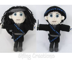 Etri Doll (merigreenleaf) Tags: crochet crocheted doll plushie plush fantasyart fantasy amigurumi handmade thief