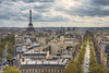 View from the Arc de Triomphe on the Eiffel tower (Dmitry Yelloff) Tags: paris france city modern town cityscape office center building urbanscene international landmark organization citylife capitalcities outdoors architecture place downtown district day clouds skyline french big large tall high great line arcdetriomphe boulevard spring eiffeltower avenuekleber sunlight rayoflight beutiful cars roofs aerial top