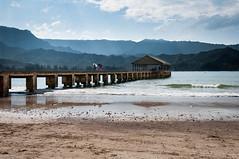 Hanalei Pier, Kauai Hawaii (bfluegie) Tags: hanaleibay hanaleipier hawaii kauai beach ocean pier water d90 nikond90