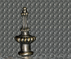 Lamp Finial (deanrr) Tags: finial metal lampfinial morgancountyalabama alabama lamppart decorative macromondays february 192018 gmt fasteners fastener macro indoor lines patterns design hmm