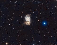 Messier 51, the Whirlpool galaxy (Mickut) Tags: galaxy galaxies m51 messier51 komakallio triussx814 lrgb ngc5195 astrometrydotnet:id=nova2445346 astrometrydotnet:status=solved