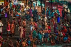 Morning Rituals on the Ganges River (felixvancakenberghe) Tags: asia india varanasi praying people hinduism