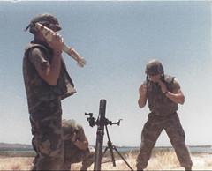 Mortar team, Gitmo Cuba1988 (1811/1812 USMC) Tags: marine marines cuba guantanamo bay navy navalbase 1988 m29a1 81mm usmc camouflage carribean gitmo crew williepete