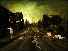 Post apocalyptic Adam and Eve (bdira3) Tags: conceptual adam eve postapocalyptic surreal snake apples