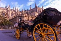 Cathedrale Sevilla (jeromepenso) Tags: cathedrale seville sevilla espagne espana caleche