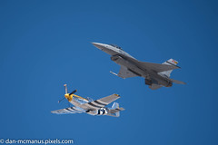 F-16 and P-51 (Kukui Photography) Tags: heritage flight practice davis monthan afb arizona tucson davismonthanafb heritageflightpractice