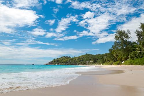 Strand Anse Intendance auf der Insel Mahe, Seychellen