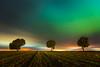 Auroras en la meseta. (Roberto_48) Tags: noche nocturna night largaexposición