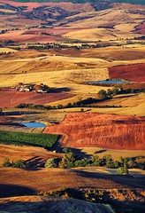Italy, Tuscany (tothfrantisek) Tags: italy landscape tuscany toscana aerial colors country sunset