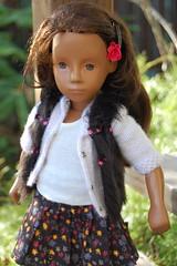 With a Flower in her Hair (Emily1957) Tags: sylvie vintage vintagesashadoll german germany gotz vinyl dolls doll toys toy flower red light naturallight sashamorgenthaler