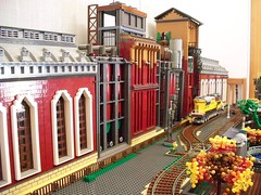 LEGO mill (pangelovmarinov) Tags: lego moc fabrica fabric mill diorama