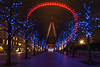 The eye (Through Bri`s Lens) Tags: londoneye cityoflondon embankment lights brianspicer canon5dmk3 canon1635f4 tourist