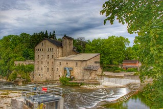 Elora Ontario - Canada - Elora Mill Inn - Reflection
