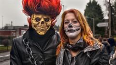 Couple at Cologne Carnival (L I C H T B I L D E R) Tags: paar couple carnival karneval mardigras köln cologne colognecarnival kölnerkarneval maske mask gothic death deathmask todesmaske tod grimreaper gevattertod sensemann