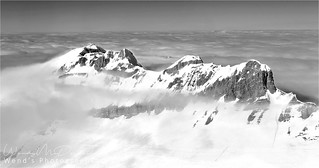 A cloud inversion that lasted all day in the French Alps