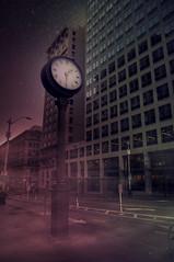 8/365 (Ell@neese) Tags: clock mysterious mystical beauty sky stars manipulation creative idea city seattle photography photoshop 365 pentax night explore travel beautiful street fog