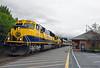 End of the Line (GRNDMND) Tags: trains railroads alaskarailroad arr locomotive emd sd70mac gp402 coastalclassic seward alaska