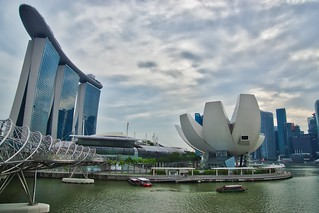 Marina Bay Sands Hotel and Arts and Science Museum in Singapore