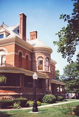 Kokomo Indiana - Seiberling Mansion - Architecture - Queen Anne (Onasill ~ Bill Badzo) Tags: goodyear kokomo in indiana seiberling mansion house style architecture historic nrhp strawboard company co tire uncle county rubber onasill nrho register neo jacobean queenanne romanesque old silk stocking district howardcounty historical museum vintage photo diamond plate glass 1889 tours travel tourist tower window clock building sky arch street light