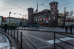 Torino - piazza Castello (Roman_77) Tags: torino piazzacastello castello castle piemonte italia italy sunset tramonto tramontocittadino place tram binari light street d750 nikon nikond750 nikonclub nikonitalia roman77