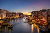 Dusk on the Rialto (OwenLloyd) Tags: italy travel venice venezia rialto canal dusk blue hour