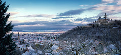 2018 Wintermorgenpanorama (jeho75) Tags: sony ilce 7m2 g oss panorama deutschlandgermany harz wernigerode winter morgen morning snow town schloss castle pov view
