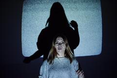 (MarcoBekk) Tags: marco bekk beck mood portrait light girl woman television grain conceptual