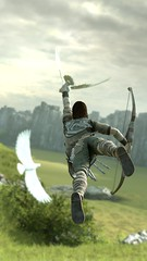 FLY ME AWAY (Ninjerello) Tags: shadowofthecolossus sotc remake wallpapers bluepointgames wanderer agro colossus colossi photomode ps4 sonyjapanstudios bestscreenshot