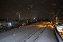 Snowy rails (しまみゅーら) Tags: fujifilm xe2 xf 35mm f14 ebc fujinon astia oneday shimokita hachinohe train trip