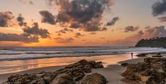 capturing the view (andrew.walker28) Tags: coolum beach queensland australia sunrise sand surf ocean waves water rocks