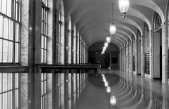 Okland post office (-Alberto_) Tags: carlzeiss contaflex 35mmfilm reflection 50mmlens blackandwhite bayarea