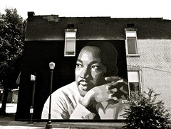 He had a dream (Dee Gee fifteen) Tags: mural drmartinlutherking tribute bw activist civilrightsleader 7dwf
