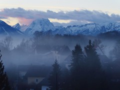 P1110220 Watzmann / Morgen / Morning (Traud) Tags: germany deutschland bavaria bayern morning morgen fog nebel watzmann bluehour goodmorning