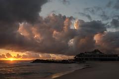 Sunrise and Stormfront (armct) Tags: surfbeach sunrise thunderstorm clouds cumulus currumbin surf rocks elephantrock coolangatta vikingssurfclub translucent sundaylights surfersparadise