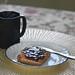 Photo #33-Hot Rooibos Vanilla Tea, Organic Chunky Peanut Butter & Raspberry  Jam On Spelt Sesame Toast