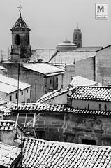 Piedra, tejados y nieve - Úbeda (Juan de la Cruz Moreno Balboa) Tags: 2018 nevada nieve úbeda sanpablo salvador blancoynegro urbana
