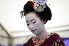 Close up (stevech) Tags: japan kyoto september maiko geisha kimono traditional tea ceremony