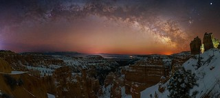 Bryce Canyon Milky Way Arch Pano
