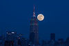 Supermoon Rising (D. Bradford) Tags: supermoon manhattan nyc newyorkcity empirestatebuilding moon