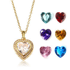 JASSY® Gold Plated Necklace with 7 Different Color Gemstone Open Heart Pendant Fine Women Jewelry (1176261) #Banggood (SuperDeals.BG) Tags: superdeals banggood jewelry watch jassy® gold plated necklace with 7 different color gemstone open heart pendant fine women 1176261