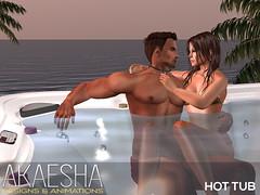 Akaesha Hot Tub (Akaesha Revnik) Tags: hot tub hottub couple animations romantic valentine group second life secondlife sl mesh bento