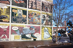 "Apotheosis of Nike -- ""Baltimore has spoken"" (ADMurr) Tags: baltimore nike air cartoon sneakers hitops memorial randolph washington park heights ave leica 50mm m6 kodak dac2192"