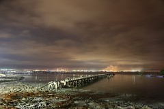 broken (PawL23) Tags: penang malaysia straitsofmalacca dawn bluehour jetty pier beach shingle clouds seascape asia