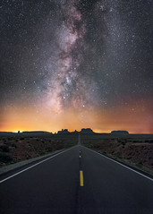 Forest Gump Highway (Wayne Pinkston) Tags: monumentvalley butte forestgump highway163 milepost13 highway night sky nightsky nightlandscape nightphotography nightscape waynepinkston waynepinkstonphotocom lightcrafter lightcraftercom stars star starrynight milkyway galaxy cosmos theheavens astronomy astrophotography landscapeastrophotography widefieldastrophotography nikon smoke wideangle desert