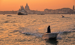 venice sunset (poludziber1) Tags: street streetphotography skyline sky sea sunset city colorful cityscape color colorfull venice venezia water italia italy people boat urban travel